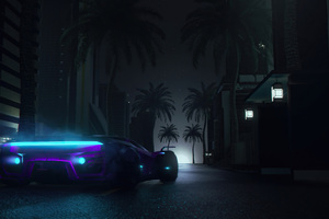 Midnight Neon Drive 4k