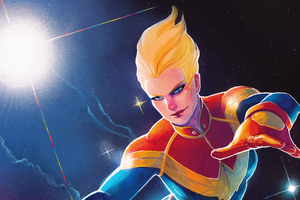 Mighty Captain Marvel 4k