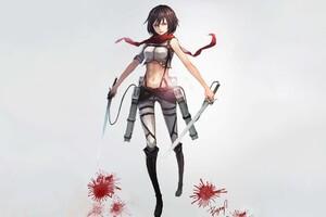 Mikasa Ackerman 4k Wallpaper