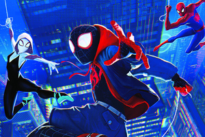 Miles Gwen Spiderman Wallpaper