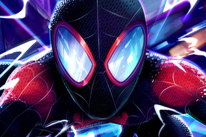 Miles Morales Closeup Wallpaper