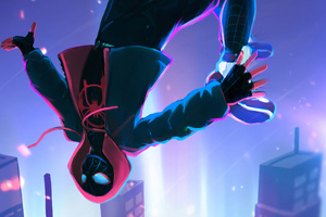 Miles Morales Falling Off Wallpaper