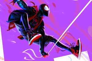 Miles Morales In Spider Man Into The Spider Verse 4k Artwork