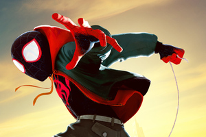 Miles Morales In Spider Man Into The Spider Verse Movie 5k Wallpaper