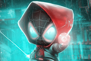 Miles Morales In Verse Wallpaper
