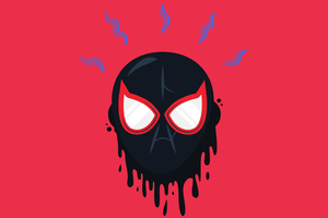 Miles Morales Mask 4k Wallpaper
