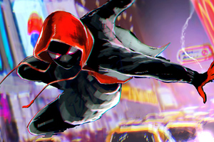 Miles Morales New York Wallpaper