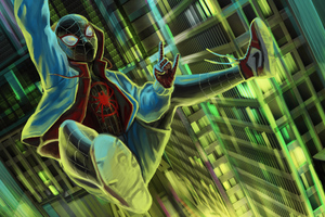 Miles Morales Spider Wallpaper