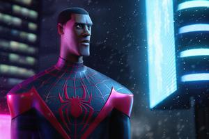 Miles Morales Spider Man Digital 3D 4k Wallpaper
