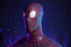 Miles Morales Spider Man Digital 3D Wallpaper