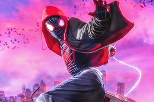 Miles Morales Spiderman Cosplay 4k