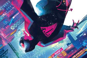 Miles Morales Spiderman Cover Art Wallpaper