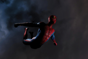 Miles Morales Spiderman Jumping Ps5 Wallpaper