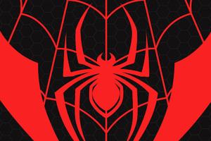 Miles Morales Spiderman Logo Wallpaper