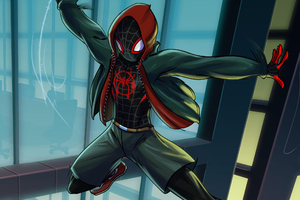 Miles Morales Spiderverse Art Wallpaper