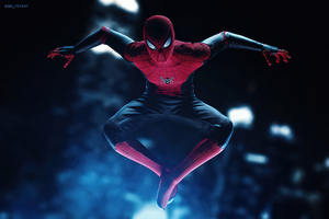 Miles Morales Suit Spiderman Ps5 5k Wallpaper