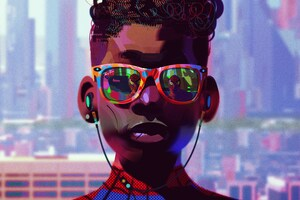 Miles Morales Wearing Glasses Wallpaper