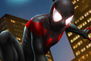 Miles Spider Man Art Wallpaper