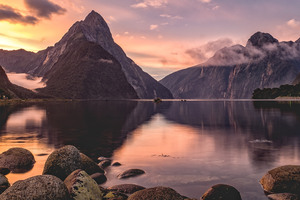 Milford Sound Sunset New Zealand
