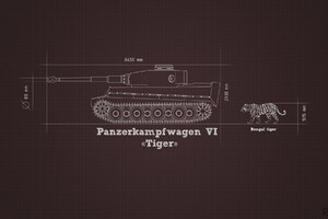 Military Tank Blueprints Wallpaper
