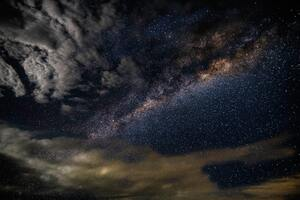 Milky Way Astronomy Constellations Storm Clouds Stars 5k