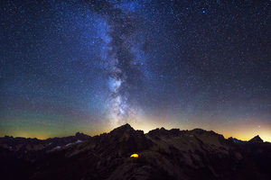 Milky Way In North Cascades Wallpaper