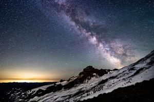 Milky Way Mt Rainier Wallpaper