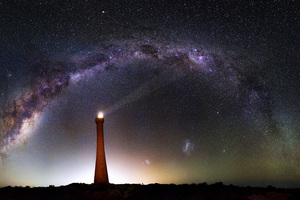 Milky Way Over Lighthouse 5k Wallpaper