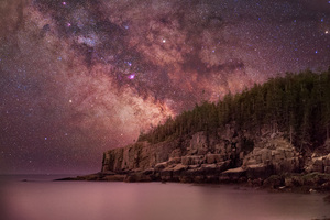 Milky Way Over Otter Cliffs 4k Wallpaper