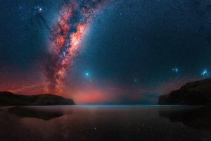Milky Way Rises At A Remote Bay Near Christchurch 4k Wallpaper