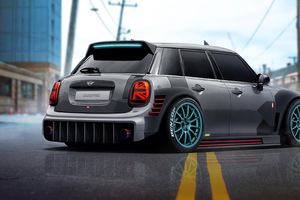 Mini Cooper Digital Art 4k