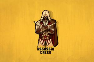 Minimal Assasins Creed 4k Wallpaper