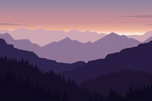 Minimal Landscape 4k Wallpaper