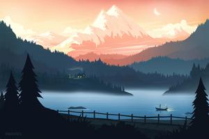Minimal Life Landscape 8k Wallpaper