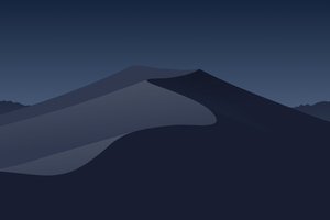 Minimal Mojave Night Wallpaper