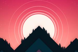 Minimal Morning Mountains 4k Wallpaper