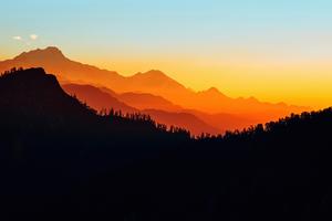 Minimal Mountains 5k Wallpaper