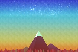 Minimalism Mountain Peak