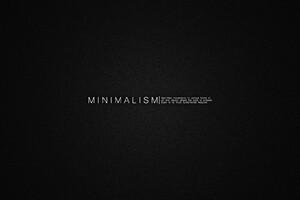 Minimalism Msg Wallpaper