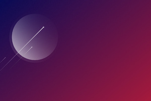 Minimalism Shooting Stars 4k Wallpaper