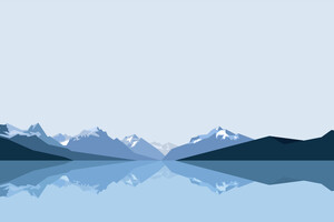 Minimalist Blue Mountains 8k Wallpaper