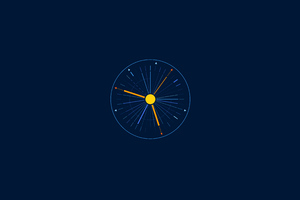 Minimalist Clock 5k Wallpaper