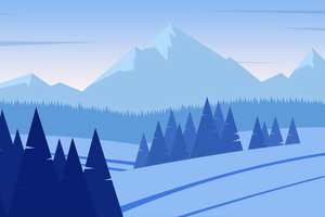 Minimalist Mountains Snow 4k Wallpaper