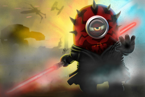 Minion As Darth Maul Wallpaper