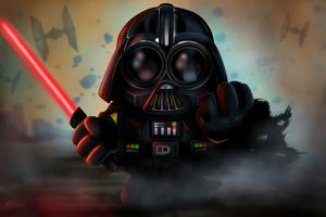 Minion As Darth Vader 4k Wallpaper