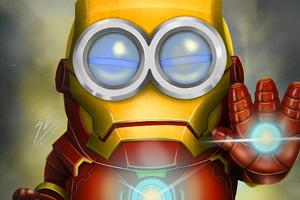 Minion As Iron Man 4k