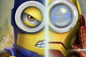 Minion As Iron Man And Captain America Wallpaper