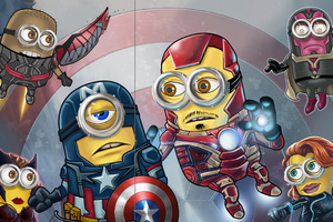 Minion Avengers Wallpaper