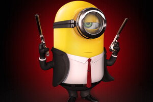 Minion Hitman 5k Wallpaper