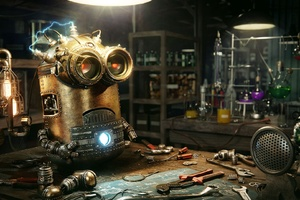 Minions Robot Steampunk Wallpaper